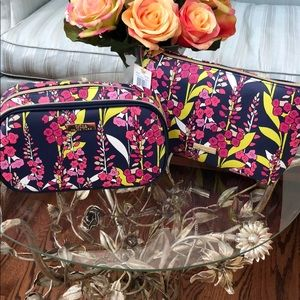 2 Trina Turk Cosmetic bags NWT $68 value